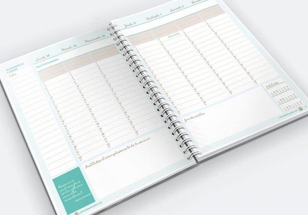 L'agenda de la Chouette organisée, version traditionnelle en couleur