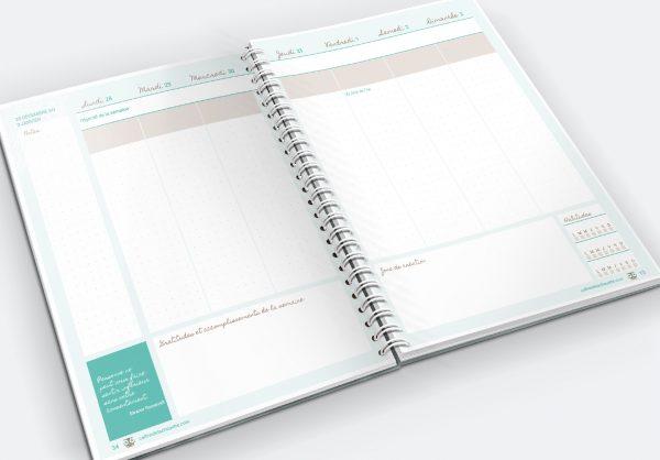L'agenda de la Chouette organisée, version bujo en couleur